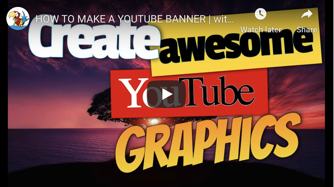 Watch the video to find out how to Create YouTube Graphics to Promote Your Business