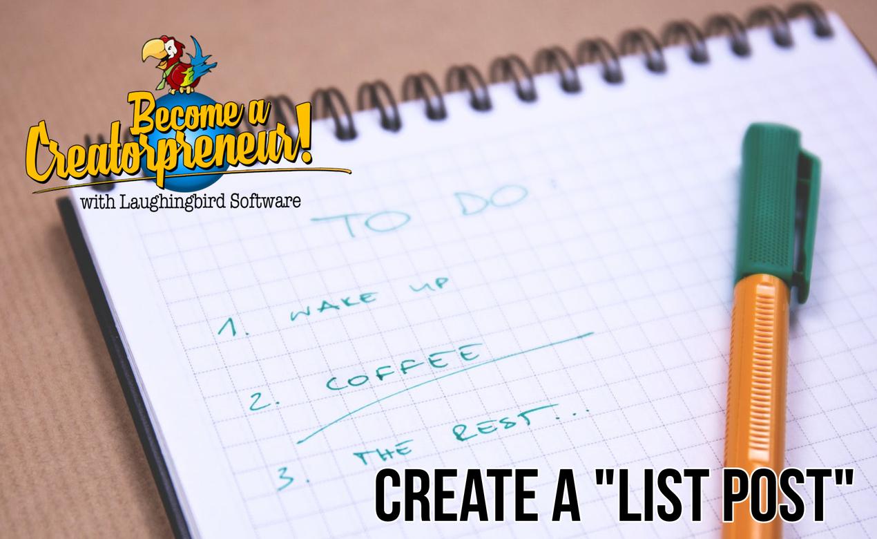 create a list post