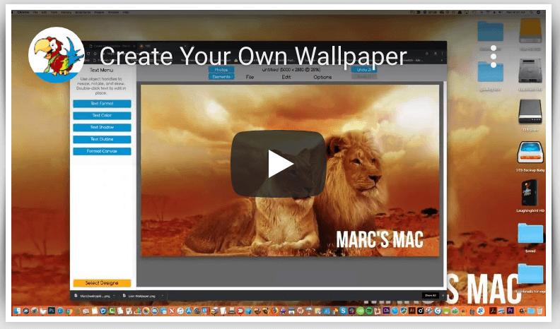 Creating Custom Wallpaper
