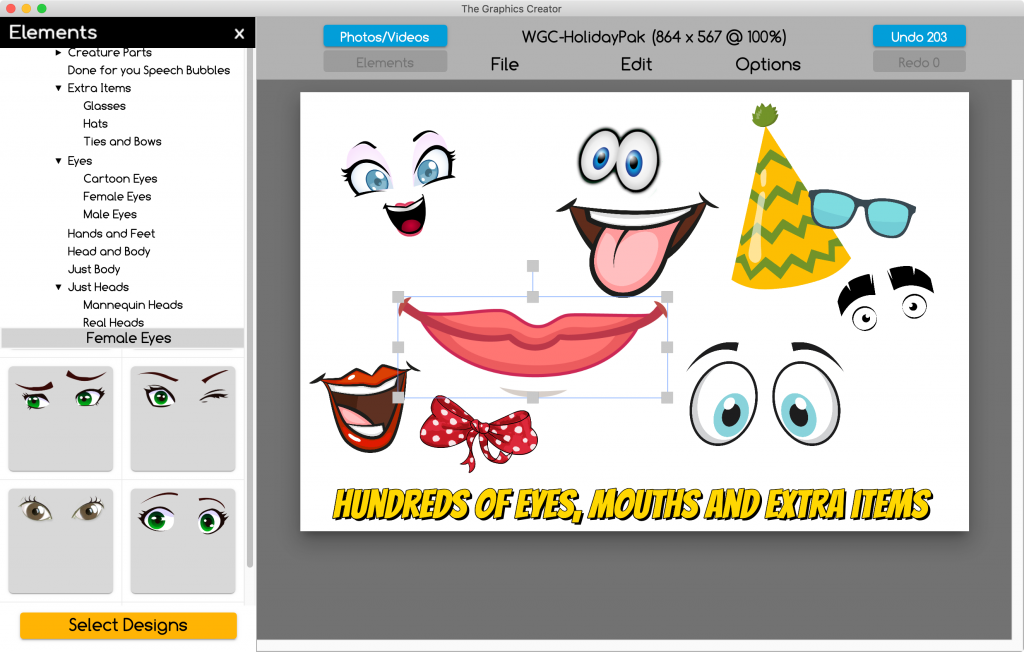 eyes mouths and hats Graphics