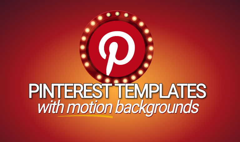 Pinterest Pins With Motion Backgrounds