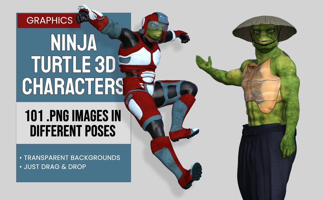 Ninja Turtle 3D Graphics