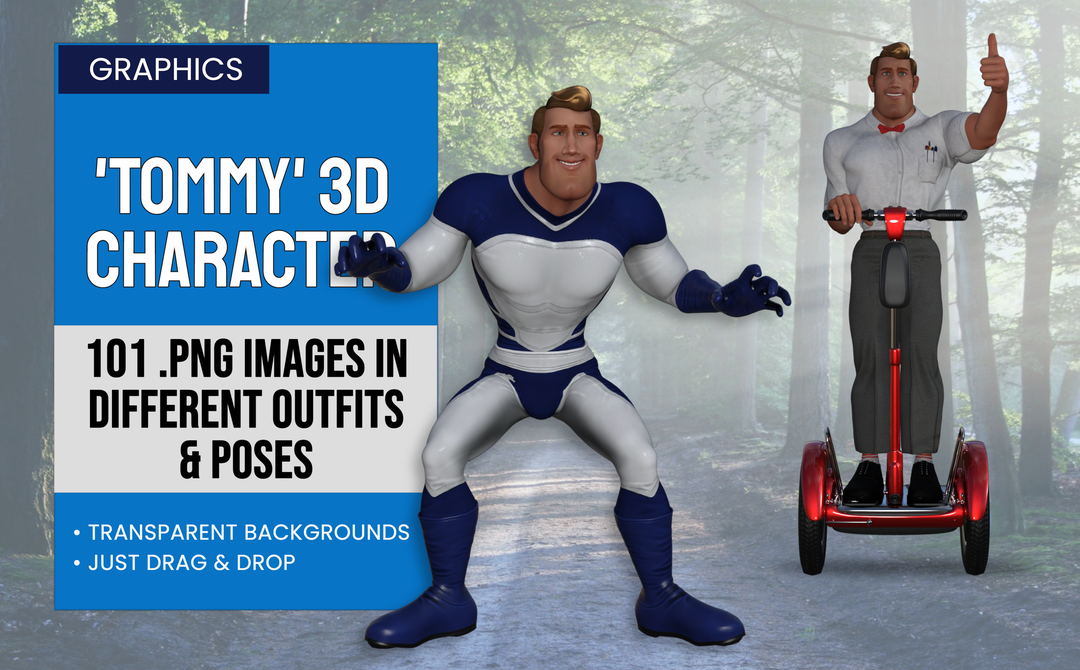 Tommy 3D Characters